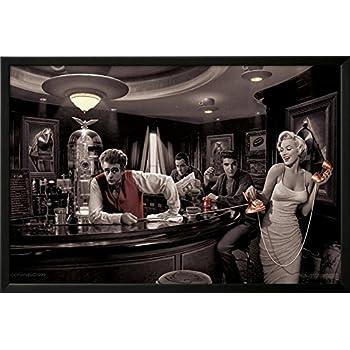 Amazon.com: \'LEGAL ACTION\' Marilyn Monroe Elvis playing Pool Triple ...