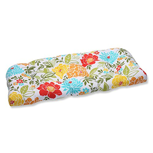 - Pillow Perfect Outdoor Spring Bling Wicker Loveseat Cushion, Multicolored