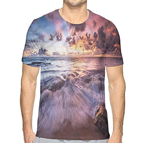 - Comfort Colors t Shirt Coastal,Sea Waves Clouds Sunset t Shirt XL