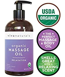 Certified Organic Massage Oil with Relax...