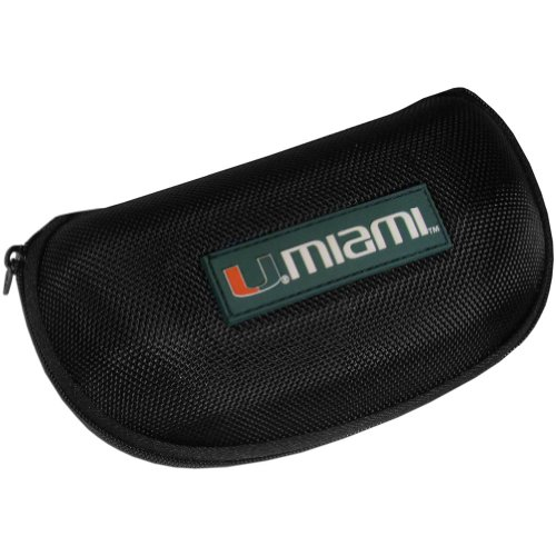 NCAA Miami Hurricanes Hard Shell Glasses Case, (Shell Hurricane)