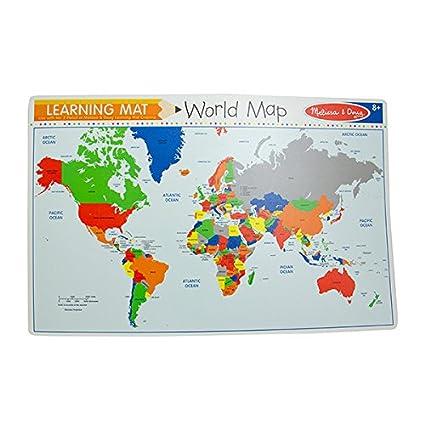 Amazon world map learning write a mat toys games world map learning write a mat gumiabroncs Gallery