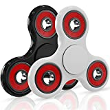 GoSpin Fidget Hand Spinners [Prime 2-Pack] Best Gift Toy for Kids, Adults, and Fidgeters with Anxiety, Stress Relief, ADHD, Boredom - Spinner is More Fun Than Cube, (Black & White)