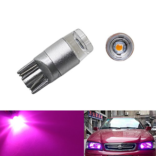 (YaaGoo Tiny Compact Small bulb License Plate Lights Lamp 12 pack, T10 168 194 2825 W5W,pink,12PCs)