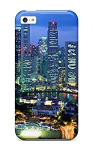 Anti-scratch And Shatterproof Singapore City Phone Case For Iphone 5c/ High Quality Tpu Case