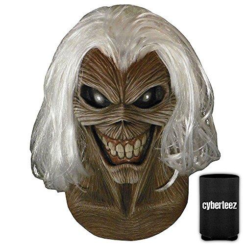 Iron Maiden Eddie Costume (IRON MAIDEN Killers Eddie Latex Costume Overhead Mask w/ Hair + Coolie)