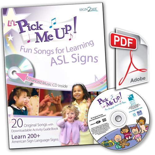 Signs Fun Cd - Li'L Pick Me Up! Fun Songs for Learning 200+ ASL Signs - Enhanced Music CD plus Printable Digital Download Activity Guide