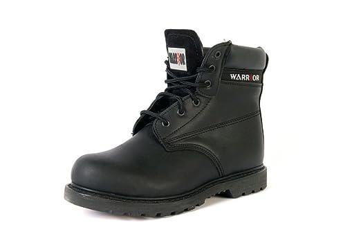 Warrior Workwear 0118mmb20/7Rahmengenähter Stiefel, Größe 7, Schwarz