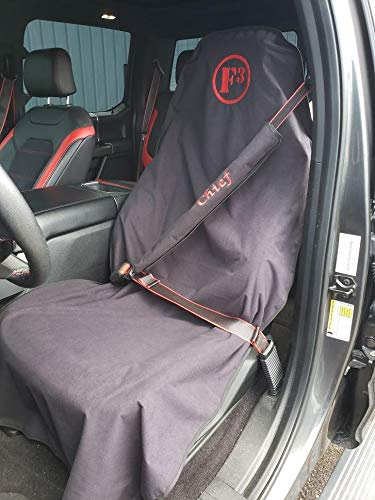 Waterproof SeatShield AllSport Seat Protector Guards Leather or Fabric from Sweat Pets Odor-Proof Removable Auto Car Seat Cover USA Patented Food