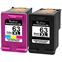 ValueToner Remanufactured Ink Cartridge for 63XL 63 XL Compatible with Officejet 4650, Envy 4520 4512 4516 Officeje 3830 3833 4655 Deskjet 1112 2130 3630 3633 3634 High Yield (1 Black, 1 Tri-Color)