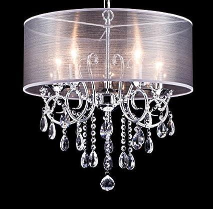 Amazon dazhuan modern pendant with 5 lights crystal drum style dazhuan modern pendant with 5 lights crystal drum style chandeliers flush mount ceiling lighting fixture aloadofball Gallery