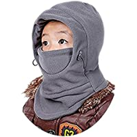 Children's Winter Warm Hat Windproof Ski Cap Thick Thermal Adjustable Balaclava Hood