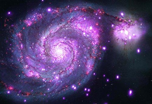 Art Chandra Art (Whirlpool Galaxy Chandra X Ray Hi Gloss Space Poster Fine Art Print)