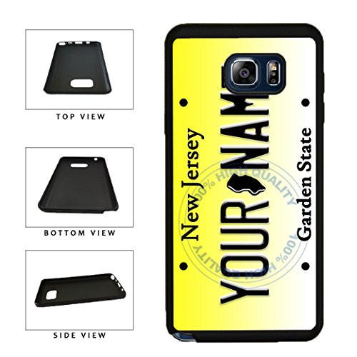 (BleuReign(TM) Personalized Custom Name New Jersey State License Plate TPU Rubber Silicone Phone Case Back Cover for Samsung Galaxy S8 Plus)