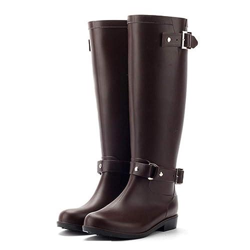 36-41 SCHWARZ BRAUN Damen  Stiefeletten Gummistiefel  Boots Schuhe Gr