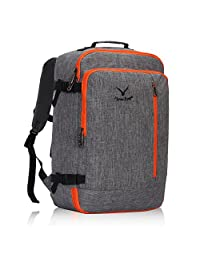 Hynes Eagle 38L Flight Approved Weekender Carry on Luggage Backpack (OrangeGrey)