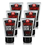 Pacific Shaving Company Caffeinated Shaving Cream - Helps Reduce Appearance of Redness, With Safe, Natural, and Plant-Derived Ingredients, Soothes Skin, Paraben Free, Made in USA, 3.4 oz (6-Pack)