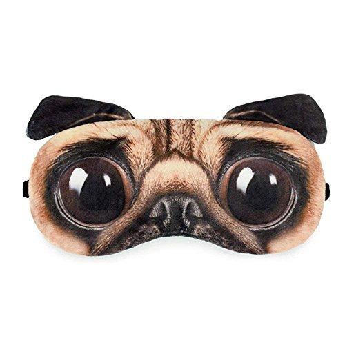 HXINFU Funny Pug Dog 3d Eye Masks For Sleeping Blinders For Men Home Office