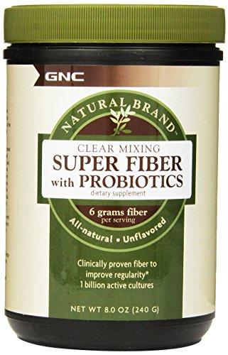 gnc natural brand clear mixing super fiber probiotics herbal mineral supplement  8 0 ounce