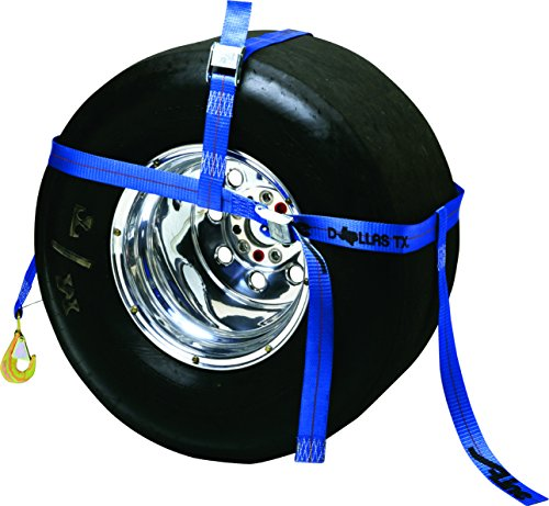 S-Line 30RT-BL Adjustable Tire Bonnet with Snap Hook, Fits 10-Inch to 22-Inch tires, Blue Web