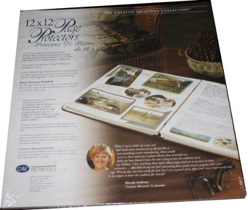 Creative Memories 12 X 12 Page Protectors 15 Sheets +1 Bonus Protector by Creative Memories