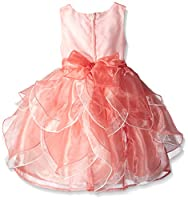 Nannette Girls' Coral Petal Dress with T...