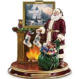 Thomas Kinkade Illuminated Santa Claus Tabletop Figurine: Light Up The Holidays by The Bradford Exchange