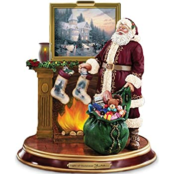 Thomas Kinkade Illuminated Santa Claus Tabletop Figurine: Light Up The Holidays by The Bradford Exchange