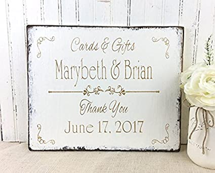 wood plaque personalized wedding sign custom wedding bridal reception gifts cards table