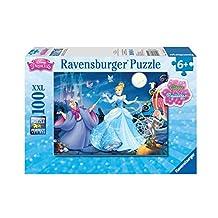 Ravensburger -Disney Princess -Adorable Cinderella Glitter  Puzzle  (100 pc )
