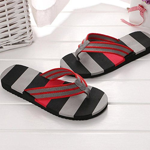 Inkach Flip-Flops Sandals - Fashion Mens Summer Sandals Bath Slippers Beach Shoes Gray fmc5wfoO6p