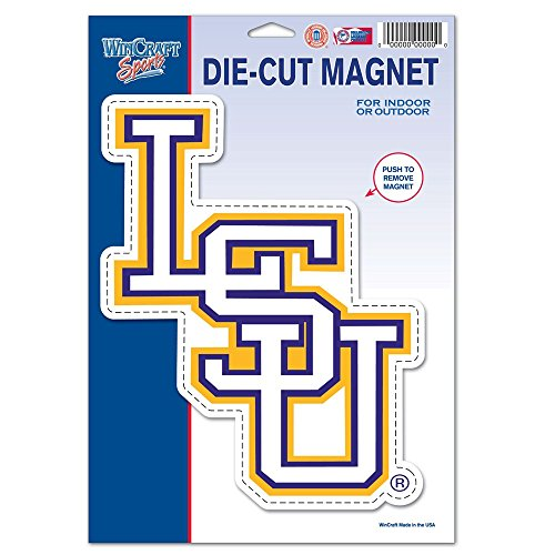 WinCraft NCAA Louisiana State University 88634012 Die Cut Logo Magnet, Small, Black