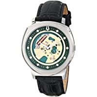Bulova Men's Accutron II Black Leather Band / Green Dial Alpha Collection Watch