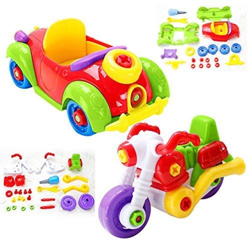 Montage Spielzeug Set mit einem Lernspielzeug für Kinder ab 3 Jahre Alt (blue)