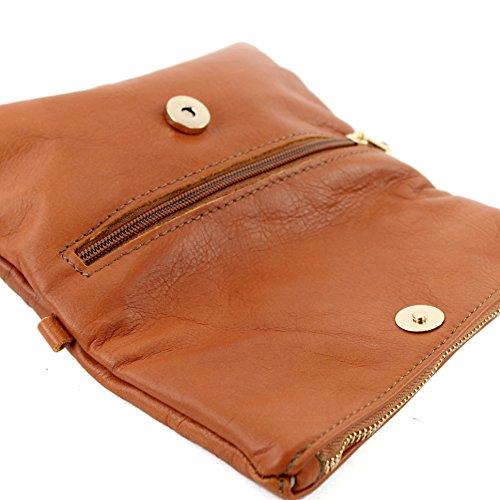 de Sac T95 ital d'embrayage poignet cuir de de petites dames d'épaule sac modamoda en sac cuir Camel en x4qw0anPPO