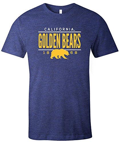 en Bears Tradition Short Sleeve Tri-Blend T-Shirt, Navy,X-Large (Bears Ncaa Basketball)
