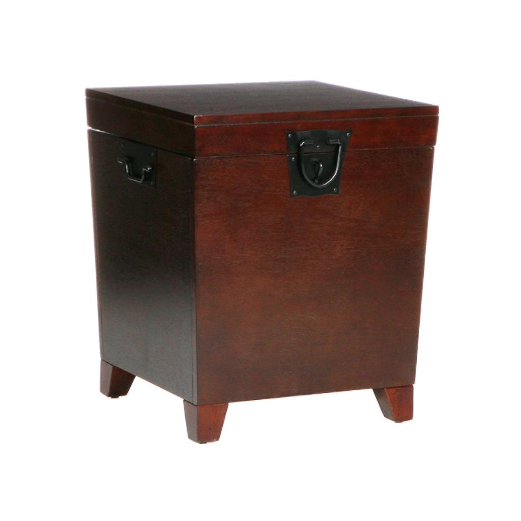 Sei Espresso Pyramid Trunk End Table End