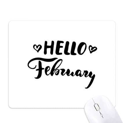 Amazon com : Hello February Quote Handwrite Mouse Pad Non