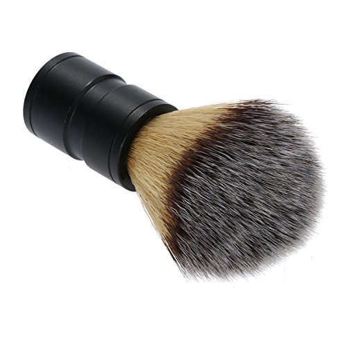 Tacoli- Professional Aluminium Handle Shaving Brush Men Mustache Beard Face Cleaning Razor Brush Barber Salon Tool Sets Black