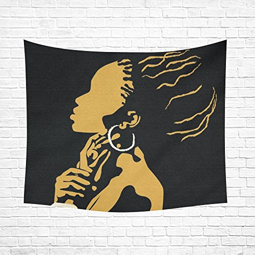 "Custom Home Decor Wall Art African women Cotton Linen Hanging Wall Tapestry 60""x 51"""