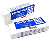 Hi-Polymer Large Plastic Rubbers Erasers - White
