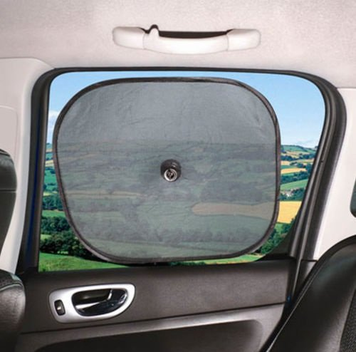 Car Window Sunshades Pair, Pop Up Sun Shades, Twin Pack Sakura