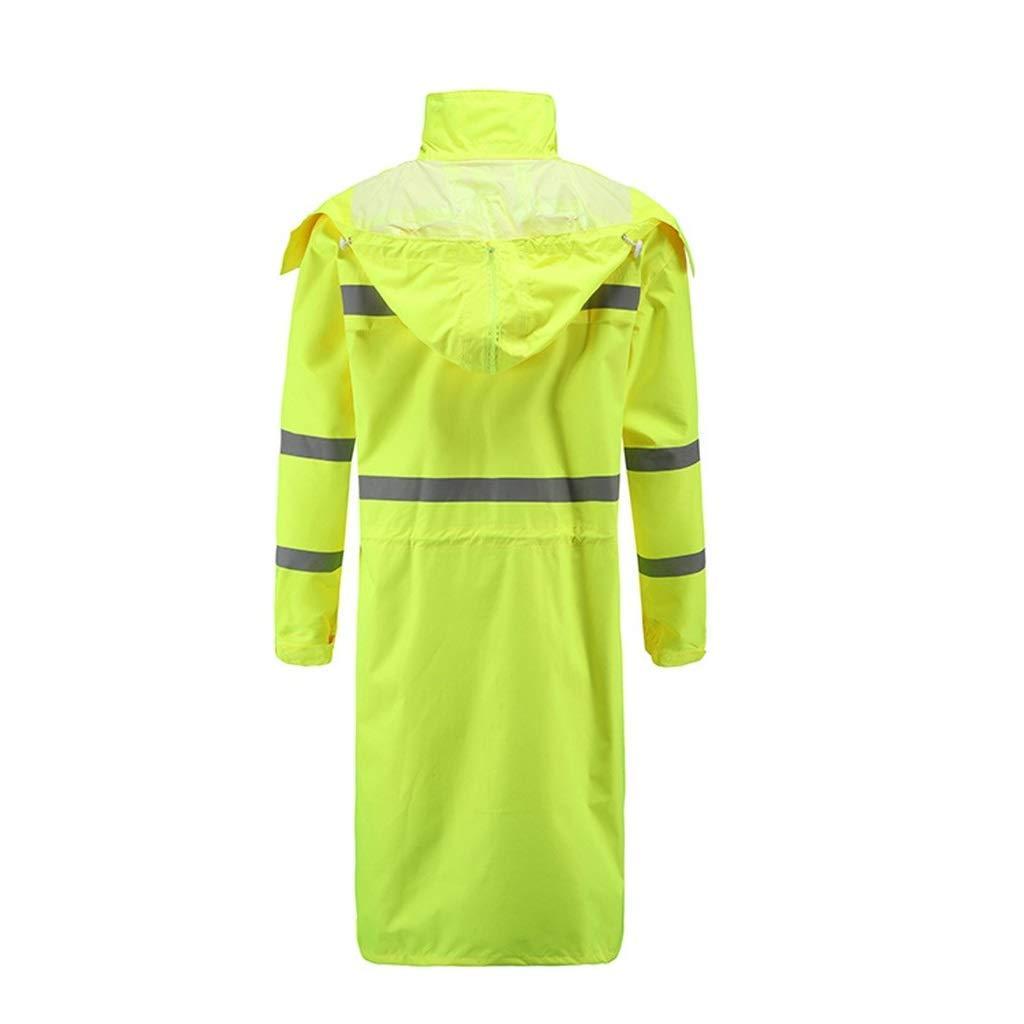 Vert  L AFDK Imperméable, veste imperméable à capuche veste longue pour hommes, imperméable extérieure,vert, L
