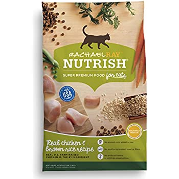 Rachael Ray Nutrish Natural Dry Cat Food, Chicken & Brown Rice Recipe, 14 lbs