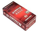 slow burn rolling papers - 1 box - Elements RED Single Wide Double Window Slow Burn Hemp rolling paper