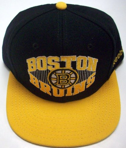 Boston Bruins Flat Bill Adjustable Snap Back Hat by Reebok NH06Z ()