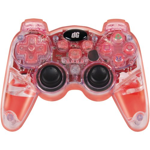 dreamGEAR PS3 Lava Glow Wireless Controller with Rumble (red) (Glow Controller Lava)