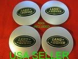 4 NEW Land Rover Wheel Center Caps WHEEL HUB CENTER SET Cap MATTE GREEN