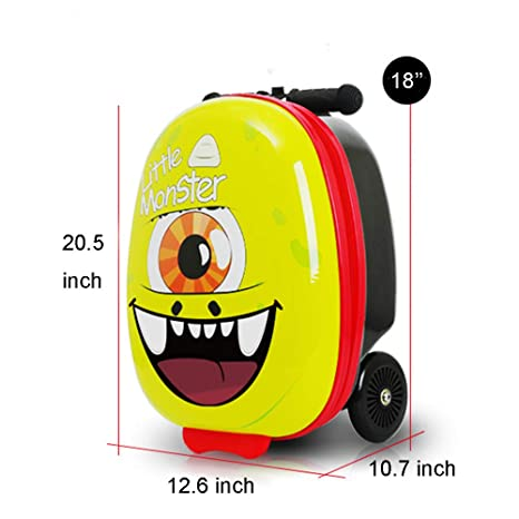Amazon.com: Maleta de 18 pulgadas para niños con patinete ...
