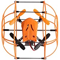Owill Helic Max Sky Walker 1336 2.4GHz 4CH RC Quadcopter 3D Flip Round Shape For Flying Protect (Orange)